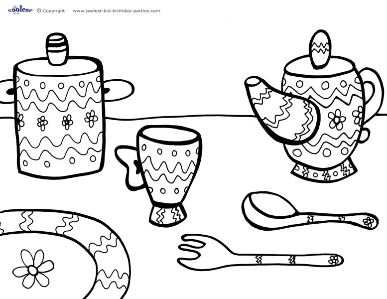 - Printable Tea Party Coloring Page 3 - Coolest Free Printables