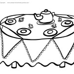 Printable Tea Party Coloring Page 4