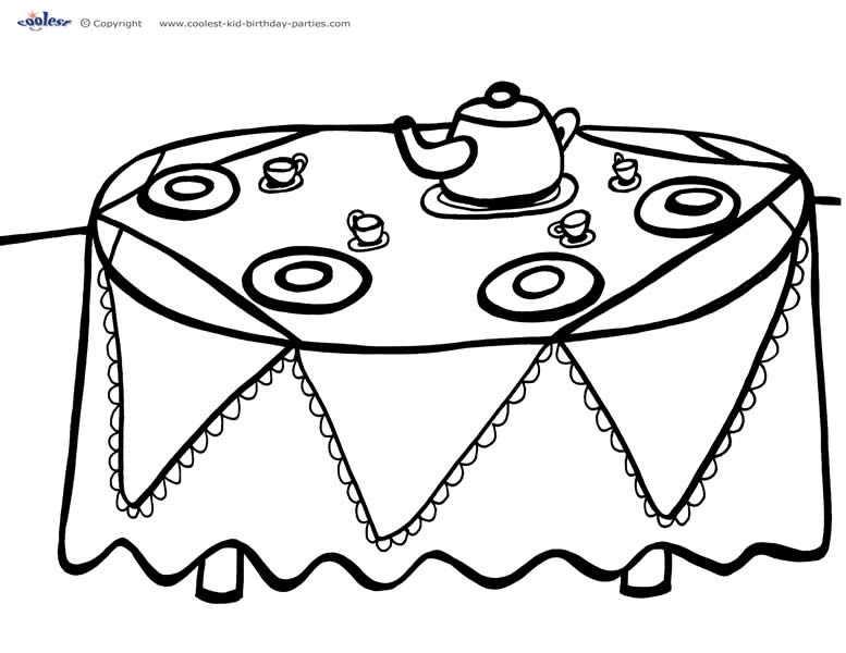 - Printable Tea Party Coloring Page 4 - Coolest Free Printables