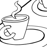 Printable Tea Party Coloring Page 6