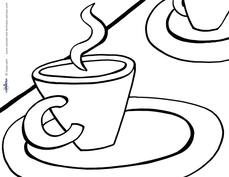 - Printable Tea Party Coloring Page 6 - Coolest Free Printables