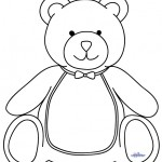 Large Printable Teddy Bear