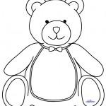 Large Printable Teddy Bear