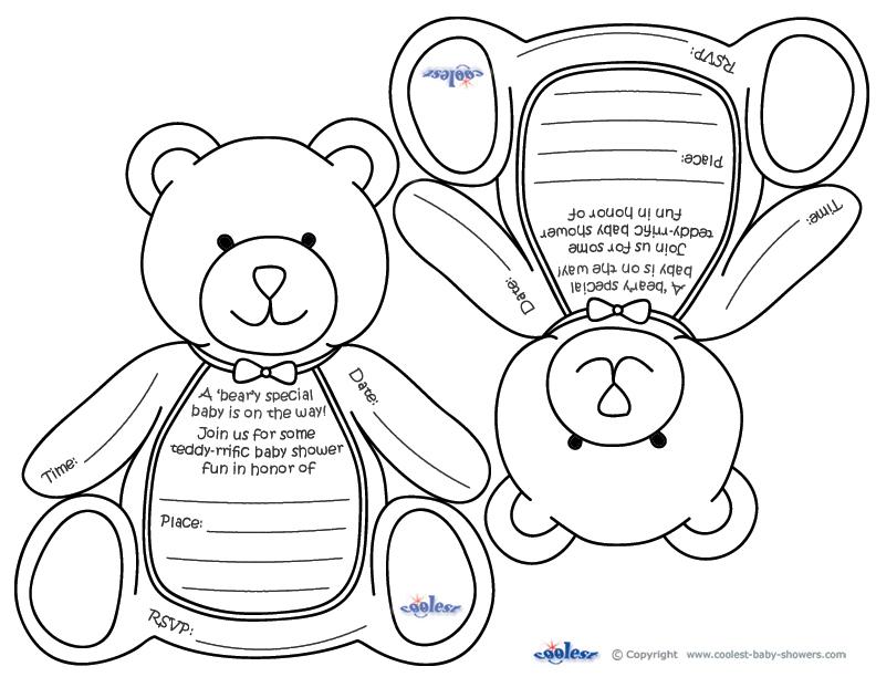 picture regarding Teddy Bear Printable identified as Printable Teddy Endure Invites