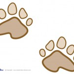 Printable Teddy Bear Paw Prints