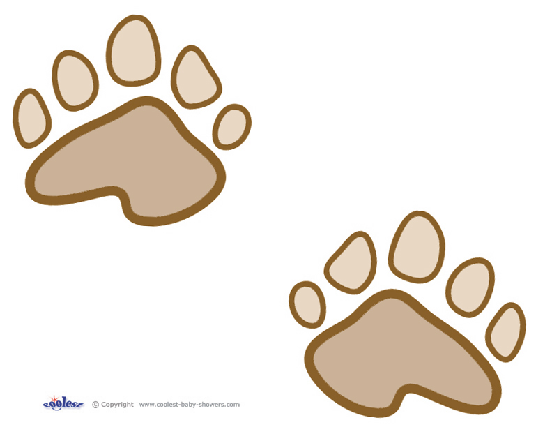 photo regarding Free Printable Paw Prints identify Printable Teddy Undergo Paw Prints