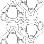 Blank Printable Teddy Bear Thank You Cards