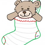 Large Printable Teddy Bear Stocking