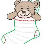 Large Printable Teddy Bear Stocking