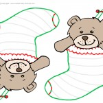 Blank Printable Teddy Bear Stocking
