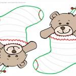 Blank Printable Teddy Bear Stocking
