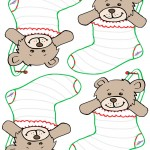 Blank Printable Teddy Bear Stocking Thank You Cards