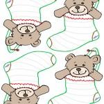 Blank Printable Teddy Bear Stocking Thank You Cards