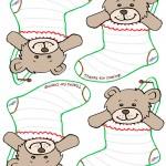 Printable Teddy Bear Stocking Thank You Cards