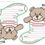 Printable Teddy Bear Stocking Baby Shower Invitations