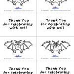 Printable B&W Bat Thank You Cards