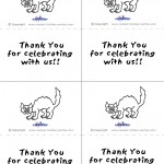 Printable B&W Cat Thank You Cards