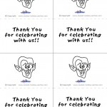 Printable B&W Dracula Thank You Cards