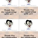 Printable Colored Dracula Thank You Cards