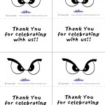 Printable B&W Eyes 1 Thank You Cards