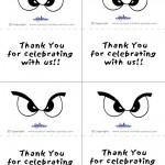 Printable B&W Eyes 1 Thank You Cards