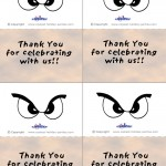 Printable Colored Eyes 1 Thank You Cards