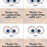Printable Colored Eyes 3 Thank You Cards