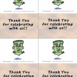 Printable Colored Frankenstein Thank You Cards