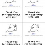 Printable B&W Ghost Thank You Cards