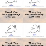Printable Colored Ghost Thank You Cards