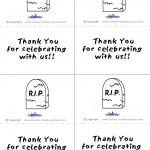 Printable B&W Gravestone Thank You Cards