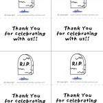 Printable B&W Gravestone Thank You Cards