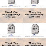Printable Colored Gravestone Thank You Cards