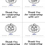 Printable B&W Pumpkin 1 Thank You Cards