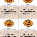 Printable Colored Pumpkin 1 Thank You Cards