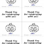 Printable B&W Pumpkin 2 Thank You Cards