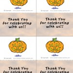Printable Colored Pumpkin 2 Thank You Cards