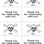 Printable B&W Skull Thank You Cards