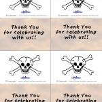 Printable Colored Skull Thank You Cards