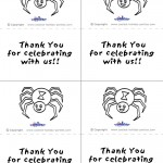 Printable B&W Spider Thank You Cards