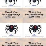 Printable Colored Spider Thank You Cards