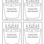 Printable Cake Thank You Cards