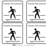 Printable Around Town Scavenger Hunt Thank You Cards