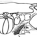 Printable Thanksgiving Coloring Page 1