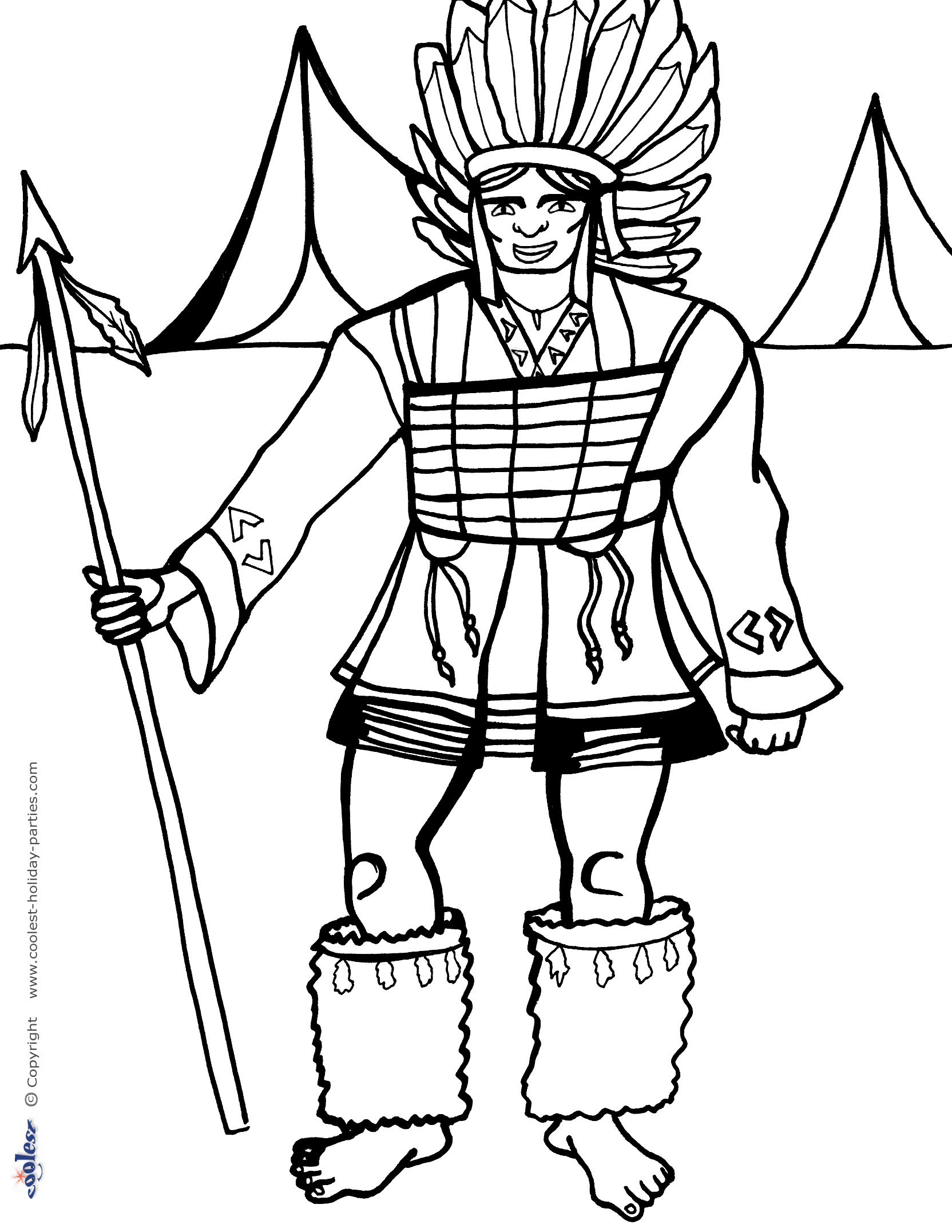 thanksgiving indian coloring pages printable - photo #41