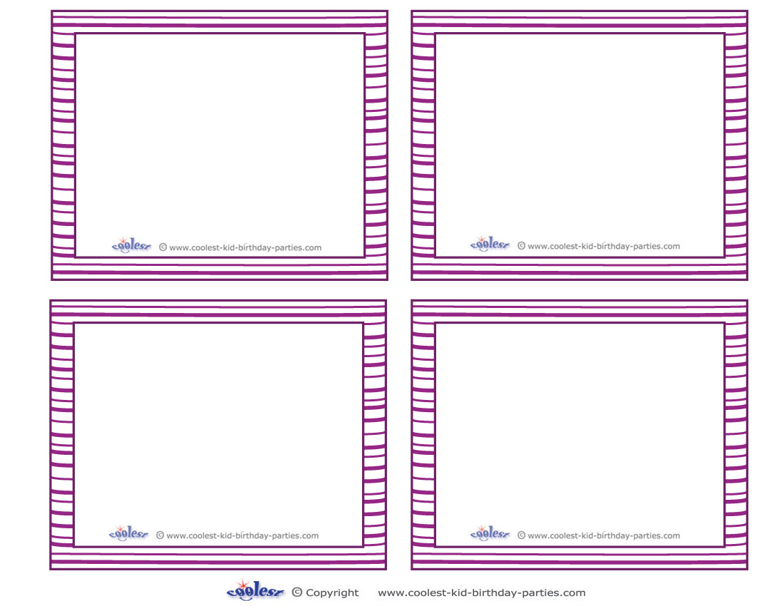 free printable blank cards