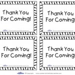Printable Tigger Thank You Cards