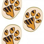 Colored Printable Tigger Footprints