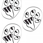 B&W Printable Tigger Footprints