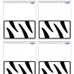 Printable Tigger Placecards